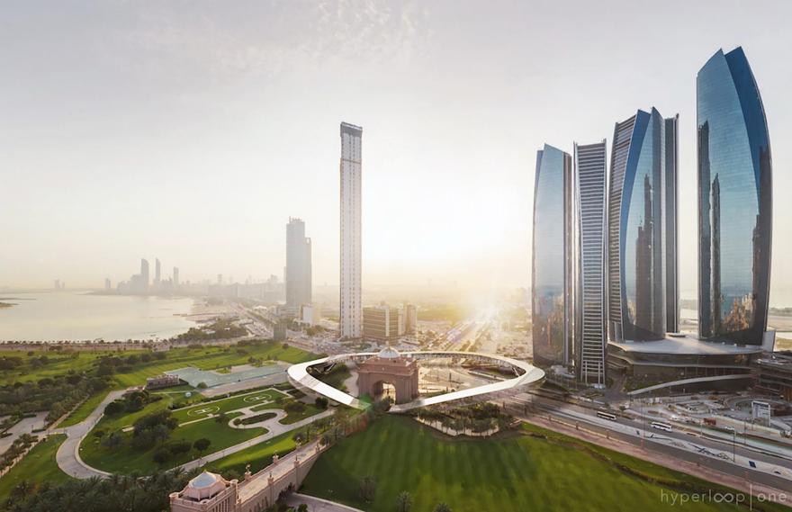 Hyperloop One por Bjarke Ingels Group en Dubai
