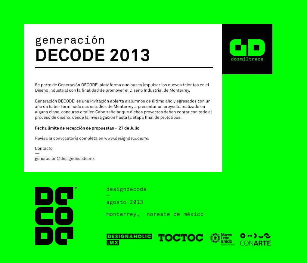 Forma parte de la Generación DECODE 2013