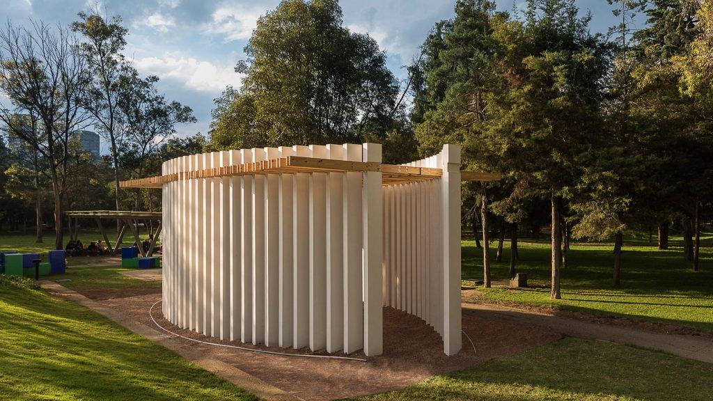 Pabellón Parteluz por Materia para Design Week México